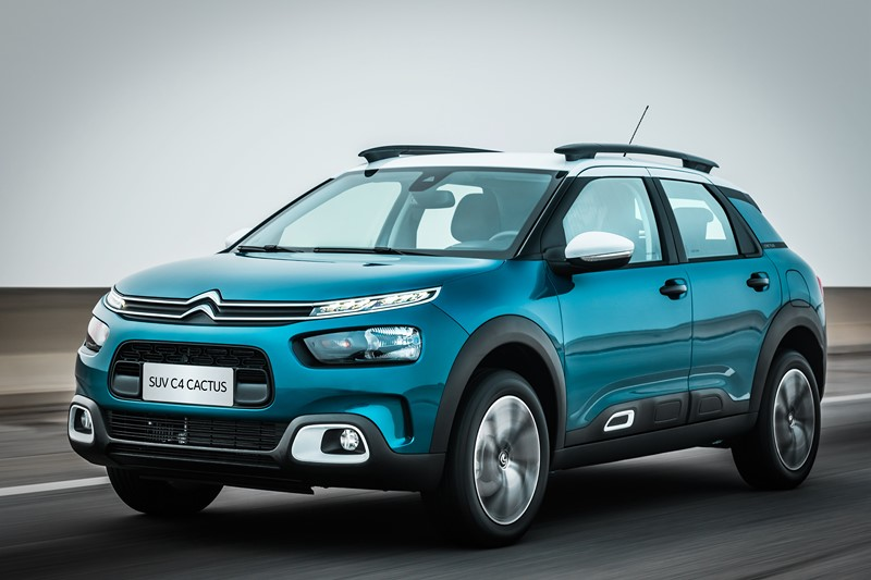 Citroën C4 Cactus: consumo 1.6 AT6 (cidade/estrada): etanol (7,3/9,1) km/l; gasolina (10,4/13) km/l – consumo 1.6 AT6 THP (cidade/estrada): etanol (7,2/8,9) km/l; gasolina (10,4/12,6) km/l - Foto: Divulgação/Citroën/Garagem 360/ND
