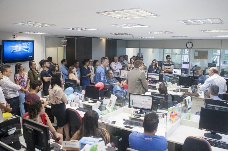 Em 2019 a equipe do ND se reuniu para celebrar os 13 anos do jornal – Foto: Flávio Tin/arquivo/ND