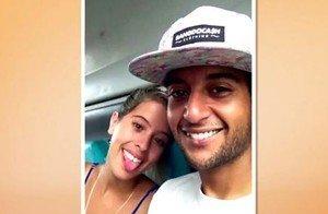 Edevaldo e Camila em foto da época – Foto: Arquivo Pessoal/Divulgação/ND