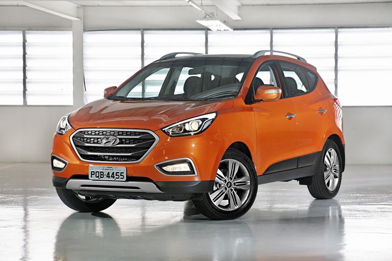 Hyundai ix35: consumo 2.0 AT6 (cidade/estrada): etanol (6,8/7,8) km/l; gasolina (10,1/11,3) km/l - Foto: Divulgação/Hyundai/Garagem 360/ND