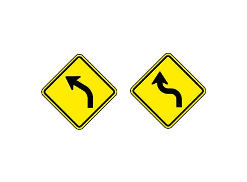Curva à esquerda e Curva acentuada em S à esquerda - Foto: Reprodução/Garagem 360/ND