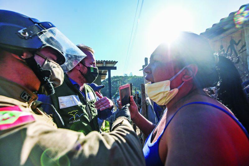 Ocupação Marielle Franco, no Maciço do Morro da Cruz, e alvo de ação da Floram contra construções irregulares – Foto: Anderson Coelho/ND