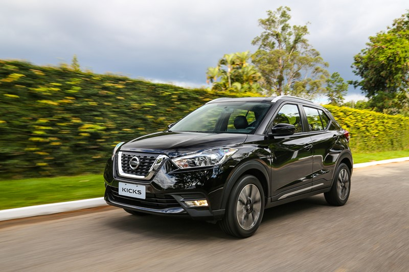 Nissan Kicks: consumo 1.6 CVT (cidade/estrada): etanol (7,7/9,4) km/l; gasolina (11,4/13,7) km/l - Foto: Divulgação/Nissan/Garagem 360/ND