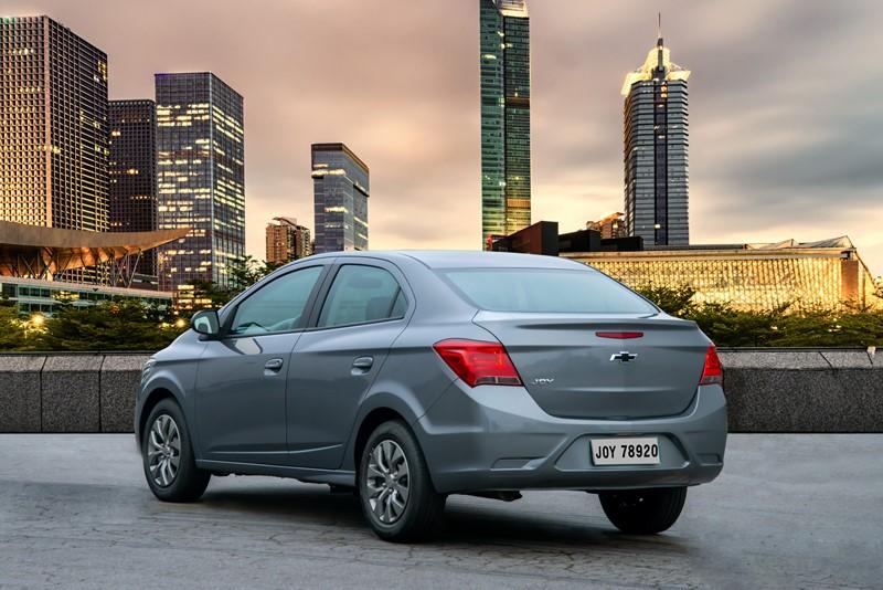 Chevrolet Joy Plus: consumo 1.0 MT6 (cidade/estrada): etanol (8,7/10,6) km/l; gasolina (12,8/15,3) km/l - Foto: Divulgação/Chevrolet/Garagem 360/ND