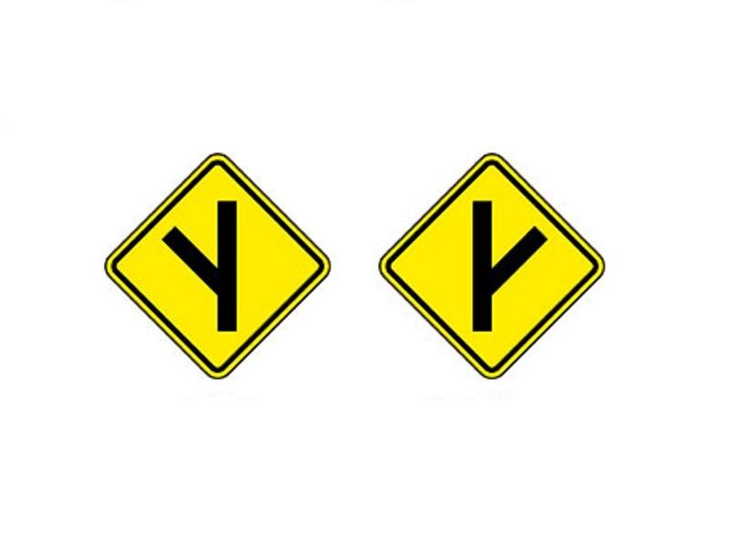 Entroncamento obliquo à esquerda e Entroncamento Olbliquo a direita - Foto: Reprodução/Garagem 360/ND
