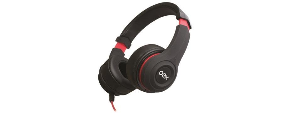 Headset Smooth HS204 da OEX. O teste completo você vê em http://goo.gl/lm3eoW. - Foto: Divulgação/33Giga/ND