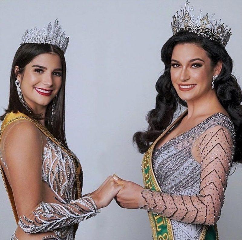 Júlia Horta, miss Brasil Universo 2019 (à esq.), e Julia Gama, miss Brasil Universo 2020 – Foto: Divulgação/ND