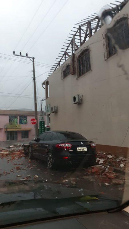 Tornado deixa estragos em Água Doce, Meio-Oeste de SC – Foto: Redes Sociais/Divulgação/ND