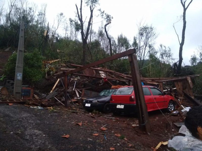 Além de casas, carros também foram danificados com a queda de árvores – Foto: Cristiane Bello das Chagas/Divulgação