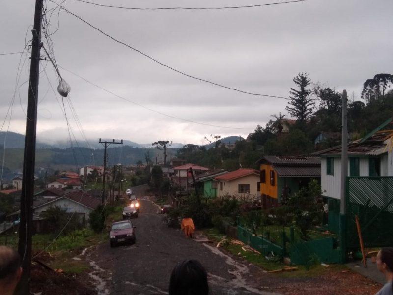 Área central de Água Doce foi a mais atingida – Foto: Cristiane Bello das Chagas/Divulgação
