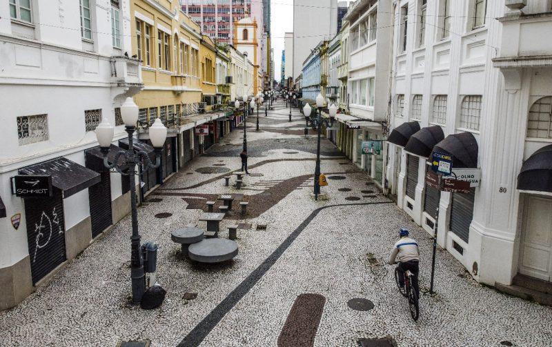 Florianópolis com o centro vazio em agosto de 2020 – Foto: Anderson Coelho/Arquivo/ND