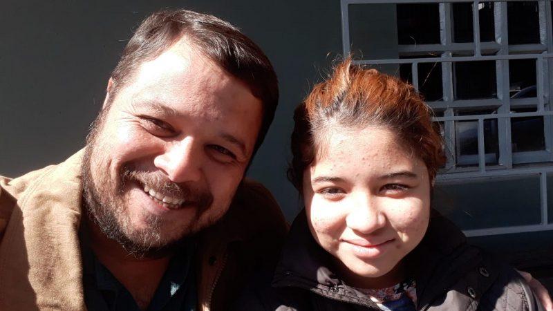 Tainara Lopes Pinheiro, de 12 anos, é encontrada pela família em Curitiba (PR) – Foto: Jean Pinheiro