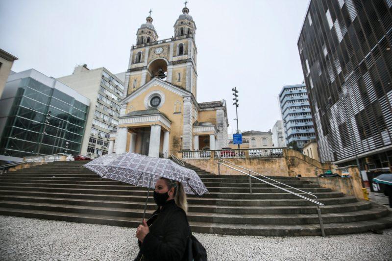 Catedral Metropolitana, em Florianópolis, passa por manutenção – Foto: Anderson Coelho/ND