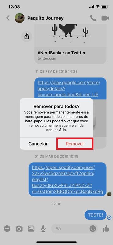 Passo 4 - Crédito: Reprodução/Facebook Messenger/33Giga/ND