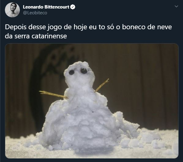 O boneco de neve catarinense se tornou um estado espírito – Foto: Reprodução/Twitter/ND