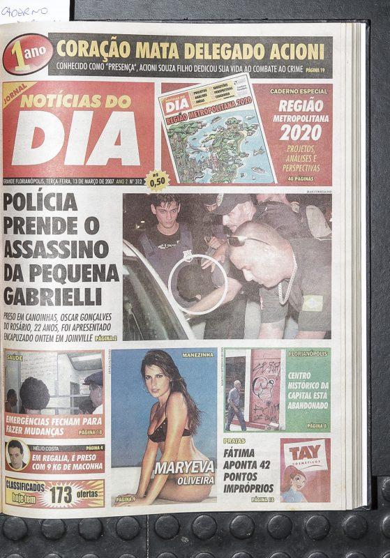 Capa da edição comemorativa de um ano do jornal, em 2007 – Foto: Bruno Ropelato/arquivo/ND