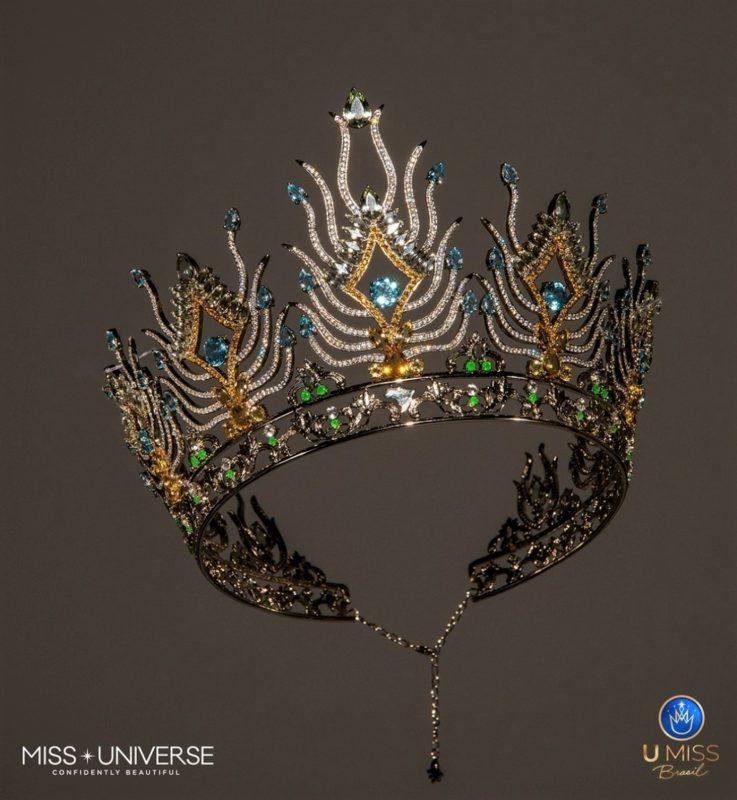 A coroa da miss Brasil Universo 2020, criada pelo joalheiro Tiago Seixas – Foto: Divulgação/ND