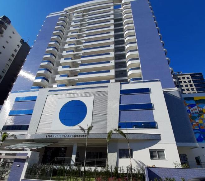 Fachada do Lídia Dircksen Residence, em São José – Foto: AM Construções/Divulgação