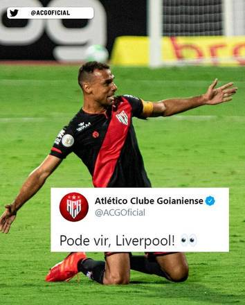O Atlético-GO fez piada com o rival do Flamengo no mundial interclubes – Foto: Reprodução/Twitter