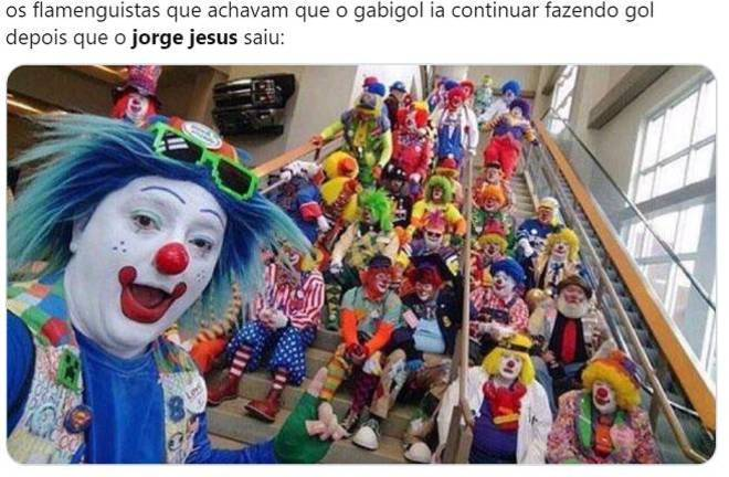 Flamenguistas falando sobre a relação entre Gabigol e o gol após a saída de Jorge Jesus – Foto: Reprodução/Twitter