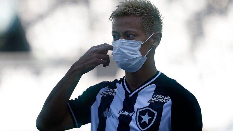 Japonês Honda, astro do Botafogo; Estrela Solitária registrou dois casos no seu grupo – Foto: Fox Sporsts/divulgação