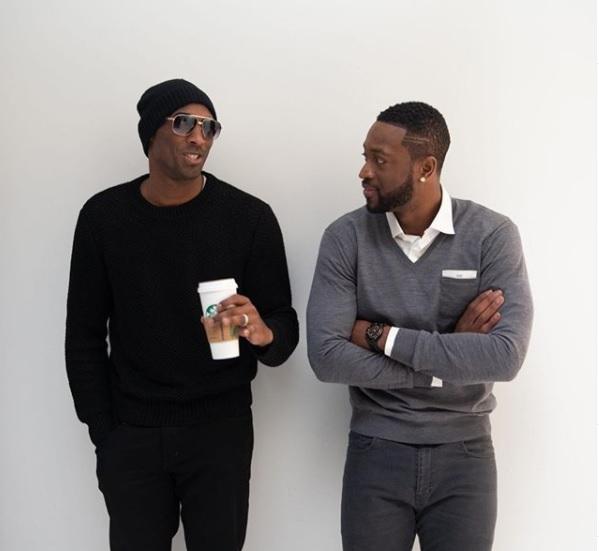 """Dwyane Wade utilizou as redes sociais para homenagear Kobe no dia do seu aniversário. """"Nós sentimos sua falta Kobe Bean Bryant! Feliz aniversário"""", escreveu acompanhado da hashtag #mambaforever – Foto: Redes Sociais/Reprodução"""