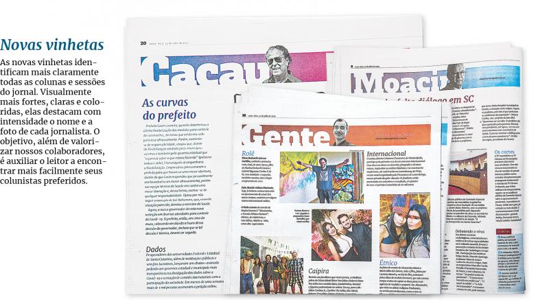 Páginas com o colunistas do Jornal ganham novas cores – Foto: Arte/Rogério Moreira Jr/ND