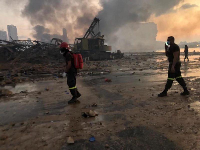 Brasileira está entre as vítimas de explosão em porto no Líbano – Foto: Reprodução/Civil Defense/Fotos Públicas/ND