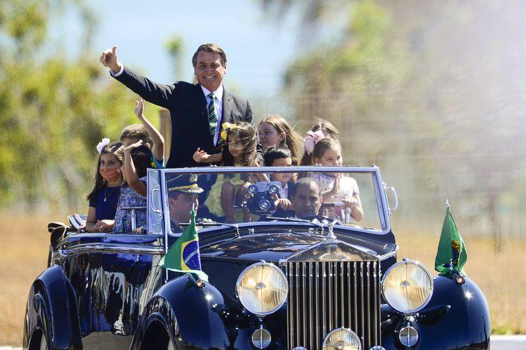 O presidente Jair Bolsonaro participa de cerimônia comemorativa do 7 de Setembro, no Palácio da Alvorada. – Foto: Marcelo Camargo/Agência Brasil/ND