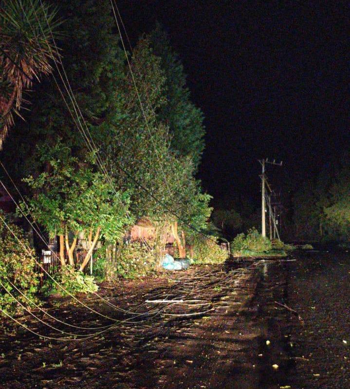 Árvores caíram no interior de Caçador e deixou famílias sem energia elétrica - Caçador Online