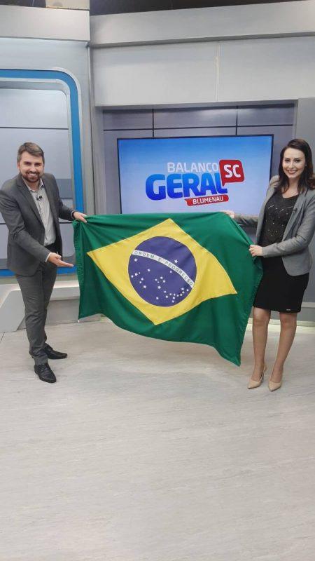 Esses são Rodrigo Vieira e Danúbia de Souza, do BG de Blumenau – Foto: Reprodução/NDTV