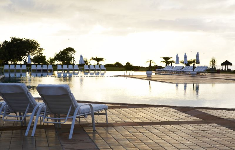 O Club Med Trancoso, em Porto Seguro (BA), conta com um spa parceiro da marca francesa Cinq Mondes. Durante os tratamentos relaxantes, o visitante pode comtemplar uma vista de tirar o fôlego: parte do litoral de Trancoso, com altas falésias, e faixas de areia de Arraial D'Ajuda - Divulgação - Divulgação/Rota de Férias/ND