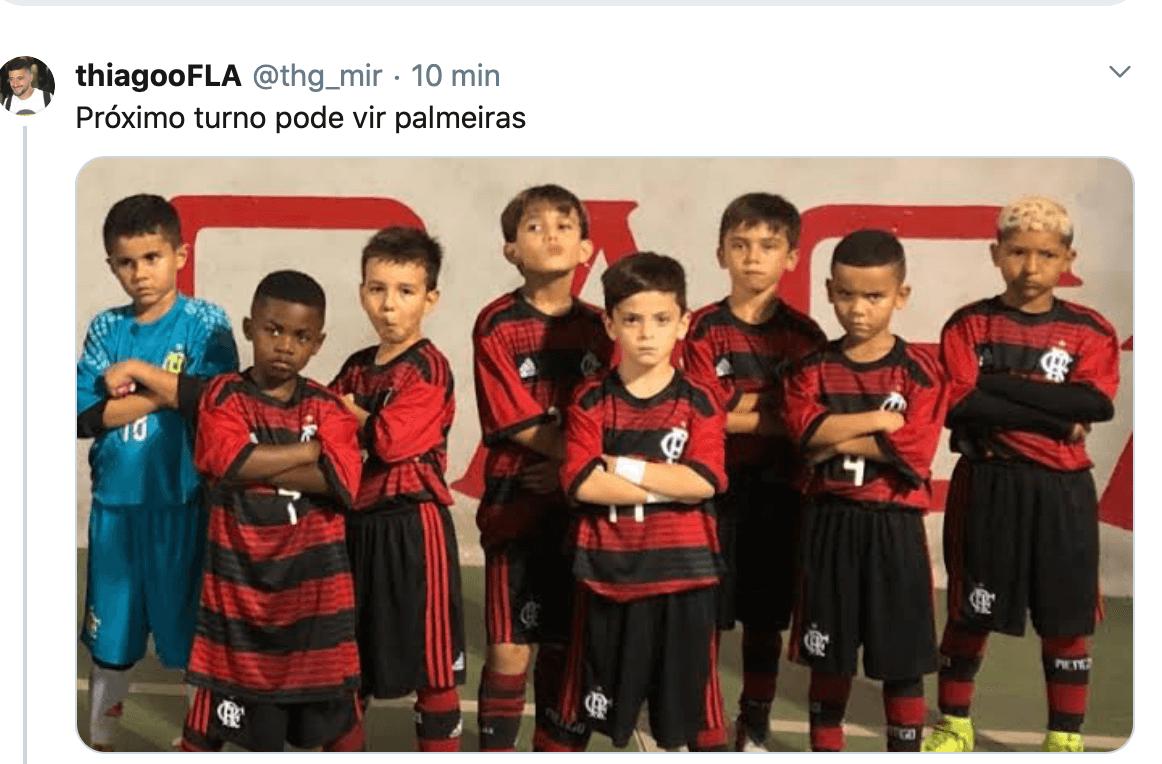 Flamengo enfrentou o Palmeiras com um time de garotos - Reprodução Internet