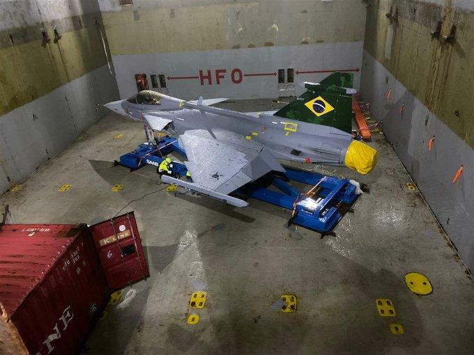 Caça Gripen da FAB fará primeiro voo de Navegantes para São Paulo nesta quinta – Foto: Brigadeiro Baptista Jr