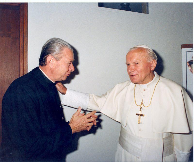 Visita do Papa a Florianópolis – 1991 – Foto: Acervo / Colégio Catarinense