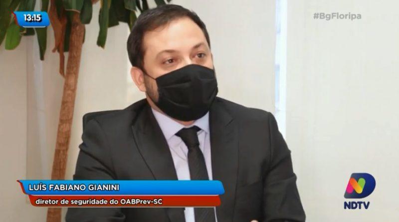 """Previdência complementar é longevidade, futuro"""", diz Luis Fabiano Gianini, diretor de seguridade do OABPrev-SC – Foto: Reprodução/NDTV"""