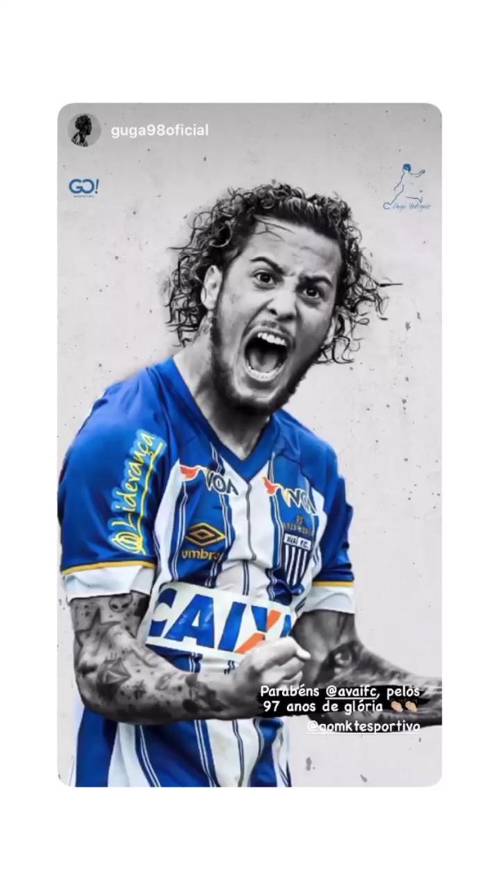 Revelado pelo Avaí e atualmente no Atlético-MG, Guga deixou seus parabéns - Reprodução/ND