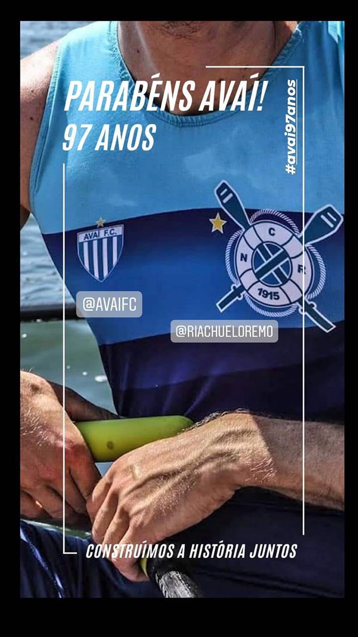 O Clube Náutico Riachuelo, de Florianópolis, prestou sua homenagem ao Leão da Ilha - Reprodução/ND