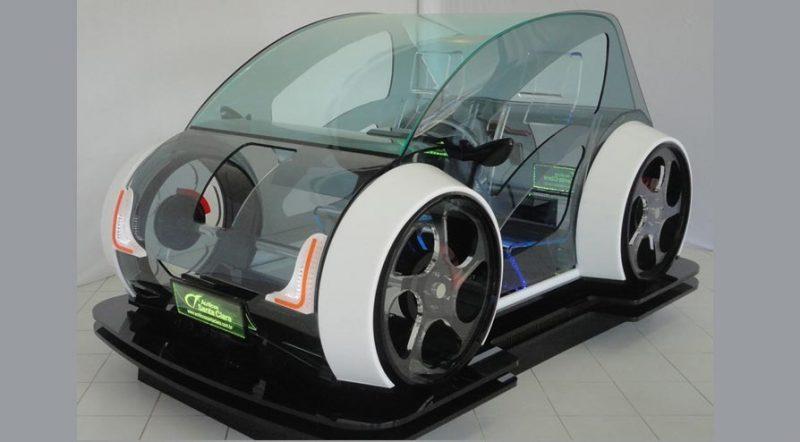 O carro é resultado de quase um ano e meio de desenvolvimento. Nele foram utilizadas chapas das mais variadas formas, cores e espessuras (acrílico preto, branco , verde, azul, fume, cristal, vermelho e chapas de 2 a 50mm de espessura) totalizando mais de 700 quilos de material bruto. Trabalhando com detalhes de três milímetros, as nuances vão do branco ao preto, do fumê ao verde translúcido e o cristal, além da combinação com iluminação em LEDs – Foto: Marketing da Bold/Divulgação ND