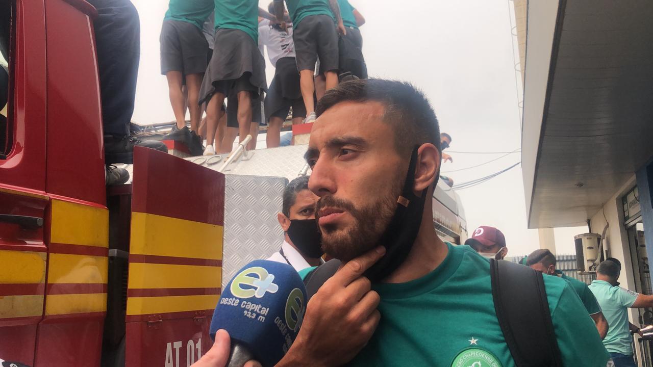 Alan Ruchel concedeu entrevista aos veículos de comunicação - Willian Ricardo/ND