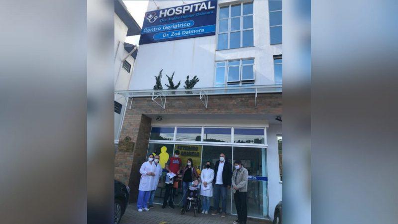 Hospital Dra Izolde Hubner Dalmora, de Lindóia do Sul, se cadastrou para receber o medicamento e repassar à família. – Foto: Arquivo Pessoal/Facebook/ND