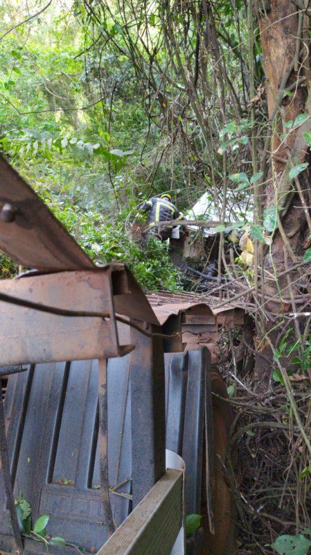 A PRF fez um laudo do acidente para apontar a dinâmica da colisão. Na imagem, o caminhão envolvido na ocorrência. – Reprodução/ND