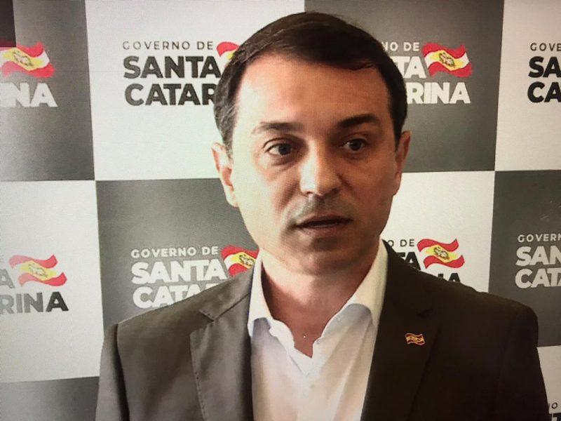 Governador Carlos Moisés concedeu coletiva de imprensa na manhã desta quarta-feira após operação da PF – Foto: Reprodução/ND