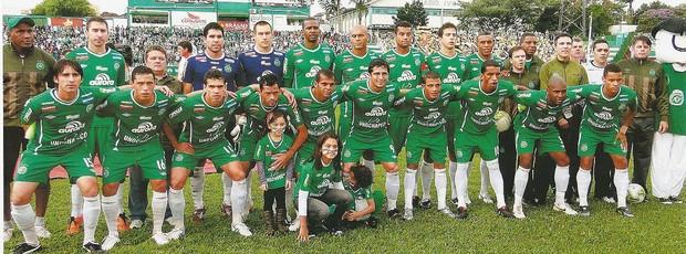 2011 (Chapecoense): A Chapecoense bateu o Criciúma por 1 a 0 na grande decisão e se sagrou campeã Catarinense de 2011 – Foto: Divulgação/Chapecoense