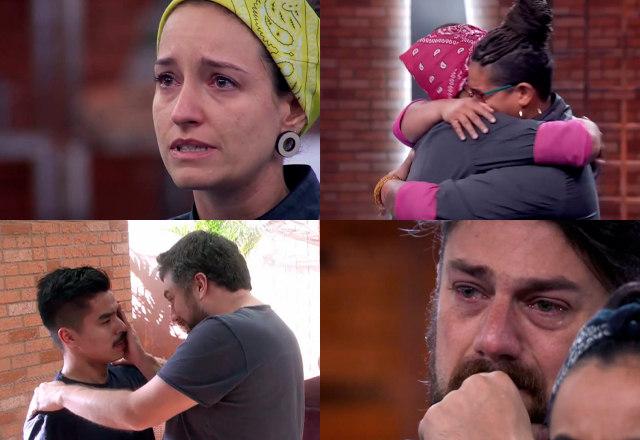 A segunda temporada do Top Chef Brasil se aproxima de sua reta final e acumula momentos emocionantes ao longo da competição. Relembre quatro vezes em que os participantes não conseguiram conter a emoção e deixaram as lágrimas escaparem! – Foto: Reprodução/Record TV