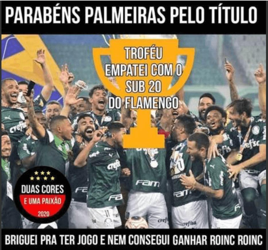 Os memes do empate entre Palmeiras e Flamengo - Reprodução Internet