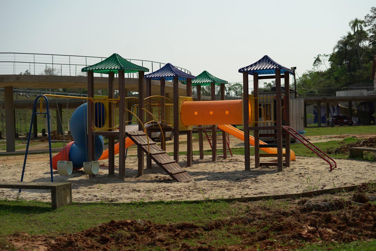Área para crianças, com playground, está finalizada - Vinicius Bretzke/NDTV