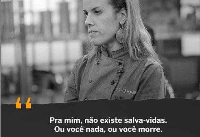 A chef Luciana também desabafou sobre o clima do jogo – Foto: Reprodução/Instagram