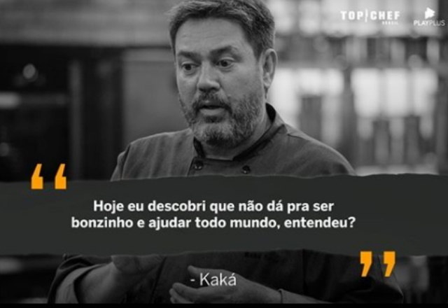 O chef Kaká Silva deixou o reality, mas antes de sair também deu o que falar! – Foto: Reprodução/Instagram
