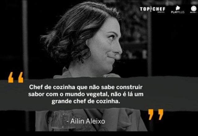 E claro que não poderia faltar uma crítica construtiva de Ailin Aleixo, não é mesmo?O Top Chef Brasil vai ao ar toda sexta-feira, a partir das 23h, na tela da Record TV – Foto: Reprodução/Instagram